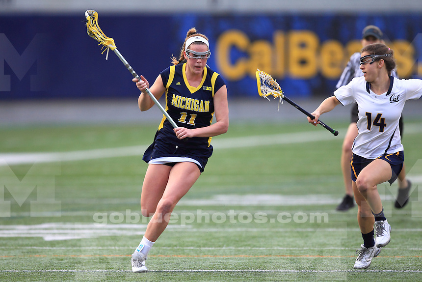 The University of Michigan women's lacrosse team defeats the California Bears, 16-14, at California Memorial Stadium in Berkeley, Calif., on March 3, 2015.