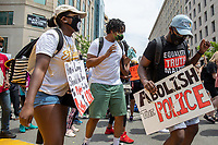 Protesters dance in the streets near the White House during a march against police brutality and racism in Washington, D.C. on Saturday, June 6, 2020.<br /> Credit: Amanda Andrade-Rhoades / CNP/AdMedia