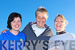 Vera O'Connell, Katy Slattery and Olivia Fitzgerald having fun at the Jingle 10 km run in aid of the Irish Council for the Blind in Killorglin on Saturday    Copyright Kerry's Eye 2008