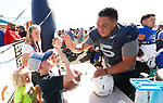 _W1_6929<br /> <br /> The BYU Football Team holds a public practice and Fan Fest at Dixie High School in St. George, Utah.<br /> <br /> 2017 BYU Football - Spring Practice March 17, 2017<br /> <br /> March 17, 2017<br /> <br /> Photo by Jaren Wilkey/BYU<br /> <br /> &copy; BYU PHOTO 2017<br /> All Rights Reserved<br /> photo@byu.edu  (801)422-7322