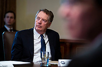 Robert Lighthizer, U.S. trade representative, listens as U.S. President Donald Trump speaks during a cabinet meeting in the Cabinet Room of the White House, on Wednesday, Jan. 2, 2019 in Washington, D.C. Photo Credit: Al Drago/CNP/AdMedia