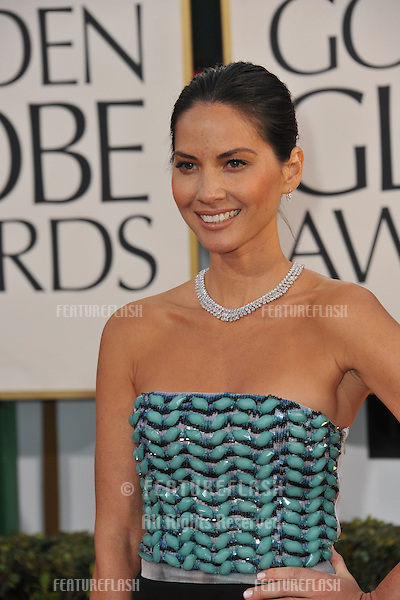 Olivia Munn at the 70th Golden Globe Awards at the Beverly Hilton Hotel..January 13, 2013  Beverly Hills, CA.Picture: Paul Smith / Featureflash