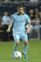 Sporting KC midfielder Paulo Nagamura (6) in action..Sporting Kansas City defeated Philadelphia Union 2-1 at LIVESTRONG Sporting Park, Kansas City, KS.