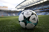 12th September 2017, Stamford Bridge, London, England; UEFA Champions League Group stage, Chelsea versus Qarabag FK; Official  UEFA Champions League football on the pitch in preparation before Chelsea versus Qarabag FK kicks off