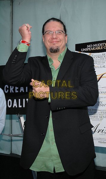 "26 July 2005 - New York, New York - Penn Jillette arrives at the premiere of his new film, ""The Aristocrats"", at The Directors Guild Theater in Manhattan.  .Photo Credit: Patti Ouderkirk/AdMedia"