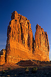 Morning light on Courthouse Towers, Arches National Park, UTAH