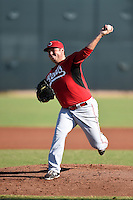 Cincinnati Reds pitcher Ty Boyles (51) during an Instructional League game against the Los Angeles Dodgers on October 11, 2014 at Goodyear Training Complex in Goodyear, Arizona.  (Mike Janes/Four Seam Images)