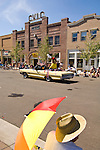 Carson Valley Days parade passes the CVIC building in downtown Minden, Nev.