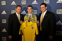 Ethan Finlay 10th pick of first round by Columbus Crew,with coaching and management team... The 2012 MLS Superdraft was held on January 12, 2012 at The Kansas City Convention Center, Kansas City, MO.
