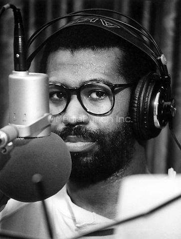Teddy Pendergrass in the recording studio in Philadelphia, 1984. © Scott Weiner /MediaPunch.