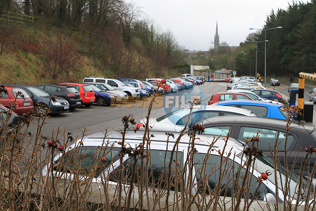 Free Carpark at the Bus Station on the Donore Road, Full of Cars...(Photo credit should read Jenny Matthews www.newsfile.ie)....This Picture has been sent you under the conditions enclosed by:.Newsfile Ltd..The Studio,.Millmount Abbey,.Drogheda,.Co Meath..Ireland..Tel: +353(0)41-9871240.Fax: +353(0)41-9871260.GSM: +353(0)86-2500958.email: pictures@newsfile.ie.www.newsfile.ie.
