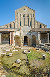 Ruins of the Baptistry on Torcello, Venice, Italy.