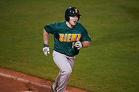 Siena Saints designated hitter Brian Kelly (14) during a game against the Stetson Hatters on February 23, 2016 at Melching Field at Conrad Park in DeLand, Florida.  Stetson defeated Siena 5-3.  (Mike Janes/Four Seam Images)
