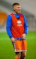 Blackpool's Owen Watkinson<br /> <br /> Photographer Alex Dodd/CameraSport<br /> <br /> The FA Youth Cup Third Round - Blackpool U18 v Derby County U18 - Tuesday 4th December 2018 - Bloomfield Road - Blackpool<br />  <br /> World Copyright © 2018 CameraSport. All rights reserved. 43 Linden Ave. Countesthorpe. Leicester. England. LE8 5PG - Tel: +44 (0) 116 277 4147 - admin@camerasport.com - www.camerasport.com