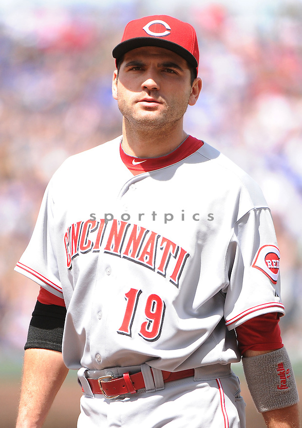 Cincinnati Reds Joey Votto (19) during a game against the Chicago Cubs on May 5, 2013 at Wrigley Field in Chicago, IL. The Reds beat the Cubs 7-4.