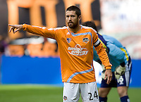 Houston Dynamo defender (24) Wade Barrett. The Houston Dynamo defeated the New England Revolution 2-1 in the finals of the MLS Cup at RFK Memorial Stadium in Washington, D. C., on November 18, 2007.