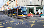 LUAS urban public transport light rail tram system, city of Dublin, Ireland, Irish Republic
