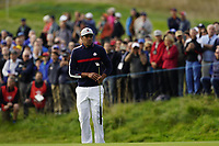 Tony Finau (Team USA) on the 5th during the friday fourballs at the Ryder Cup, Le Golf National, Iles-de-France, France. 27/09/2018.<br /> Picture Fran Caffrey / Golffile.ie<br /> <br /> All photo usage must carry mandatory copyright credit (© Golffile | Fran Caffrey)