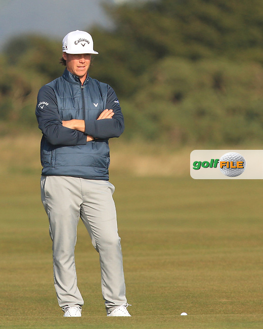 Kristoffer Broberg (SWE) on the 14th fairway during Round 4 of the 2015 Alfred Dunhill Links Championship at the Old Course in St. Andrews in Scotland on 4/10/15.<br /> Picture: Thos Caffrey | Golffile