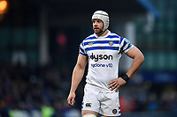 Dave Attwood of Bath Rugby looks on during a break in play. Gallagher Premiership match, between Worcester Warriors and Bath Rugby on January 5, 2019 at Sixways Stadium in Worcester, England. Photo by: Patrick Khachfe / Onside Images