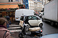 Typical traffic jam in a Paris street..©shoutpictures.com.john@shoutpictures.com