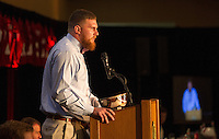 STANFORD, CA - DECEMBER 7, 2014--(L-R) Henry Anderson  co Valuable Football Player 2014, during the Football team banquet.