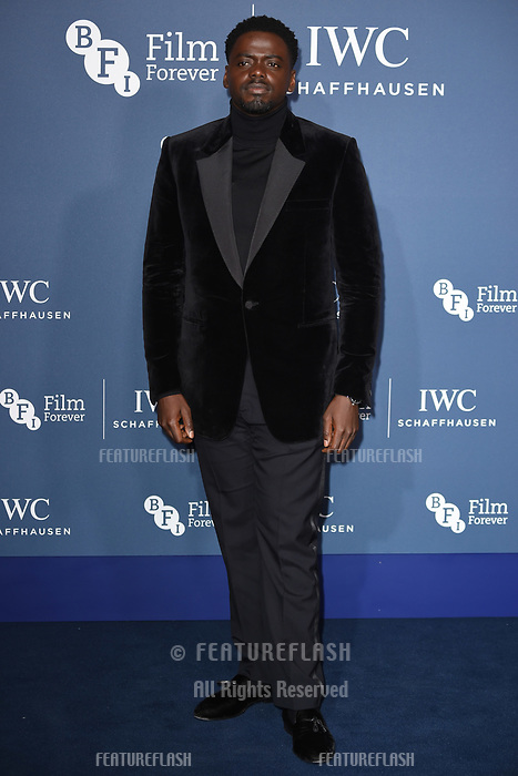 LONDON, UK. October 09, 2018: Daniel Kaluuya arriving for the 2018 IWC Schaffhausen Gala Dinner in Honour of the BFI at the Electric Light Station, London.<br /> Picture: Steve Vas/Featureflash