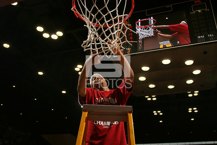25 February 2007: Melanie Murphy during Stanford's 56-53 win over USC at Maples Pavilion in Stanford, CA.