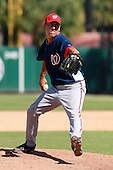Washington Nationals pitcher Tyler Hanks during a game vs. the Detroit Tigers in an Instructional League game at Joker Marchant Stadium in Lakeland, Florida;  October 1, 2010.   Photo By Mike Janes/Four Seam Images