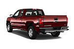 Car pictures of rear three quarter view of 2018 Chevrolet Silverado-1500 LT-Double-Cab-Std-Box 4 Door Pick-up Angular Rear