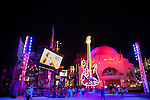 The 5 Towers concert area and giant guitar in front of the Hard Rock Cafe at Universal CityWalk in Los Angeles, CA