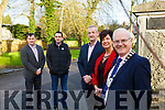 The entrance to the Listowel Town park and Community Centre has been widened at the main entrance. Foreground l to r,  Cllr: Mike Kennelly, Joan McCarthy (Kerry Co Council) &amp; Cll John Lucid (Cathaoirleach Listowel Municipal District). Back, Andy Smith (Kerry Co Council).<br /> and Cllr Jimmy Moloney.