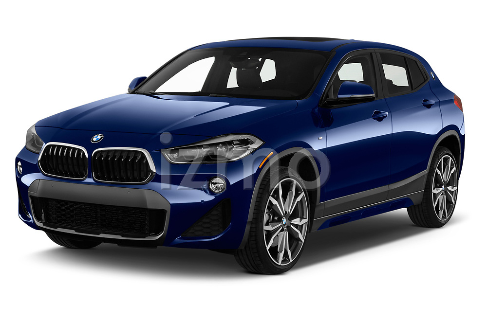 2018 BMW X2 xDrive28i 5 Door SUV angular front stock photos of front three quarter view