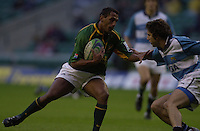 24/05/2002 (Friday).Sport -Rugby Union - London Sevens.South Africa vs Argentina.Paul Treu[Mandatory Credit, Peter Spurier/ Intersport Images].