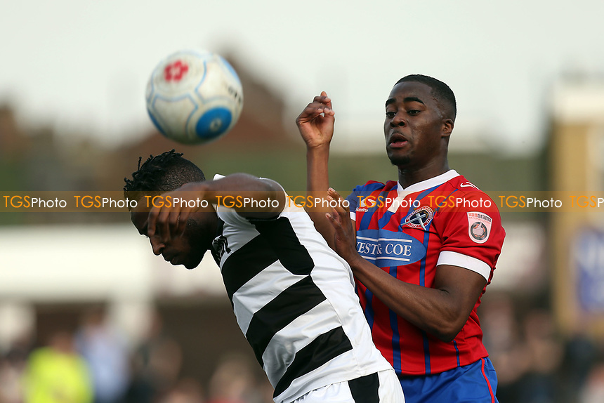 Dale Bennett of Forest Green Rovers and Fejiri Okenabirhie of Dagenham during Dagenham & Redbridge vs Forest Green Rovers, Vanarama National League Football at the Chigwell Construction Stadium on 11th March 2017