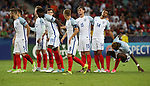 England's players look on dejected after losing on penalties during the UEFA Under 21 Semi Final at the Stadion Miejski Tychy in Tychy. Picture date 27th June 2017. Picture credit should read: David Klein/Sportimage