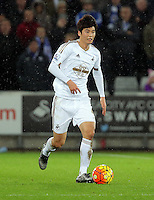 Ki Sung Yueng of Swansea during the Barclays Premier League match between Swansea City and Leicester City at the Liberty Stadium, Swansea on December 05 2015