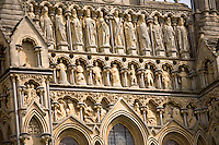 The Wells Cathedral located in Wells, England