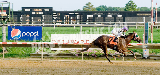 Joy Rising winning. at Delaware Park on 9/6/12