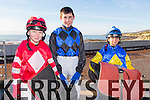 Pictured at Ballyheigue races on Sunday were Jockeys Rory King, Conor Keane, Daniel King