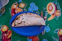 Empanada or quesadilla de Amarillo. Los Danzantes distilery, Santiago Matatlan,  Oaxaca