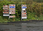 Road signs, western Ireland..Photo by Matt Cashore/University of Notre Dame