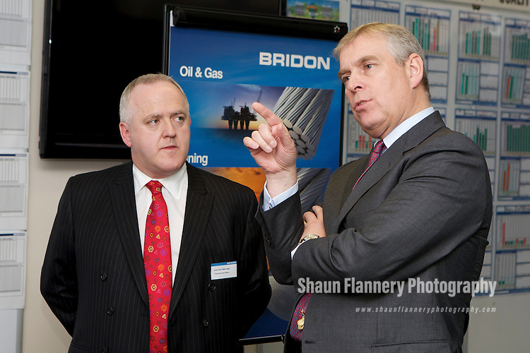 Pix: Shaun Flannery/shaunflanneryphotography.com...COPYRIGHT PICTURE>>SHAUN FLANNERY>01302-570814>>07778315553>>..20th October 2011…………….His Royal Highness Prince Andrew visits Bridon International's unit at Carr Hill, Doncaster..Jonathan Templeman, Chief Executive.