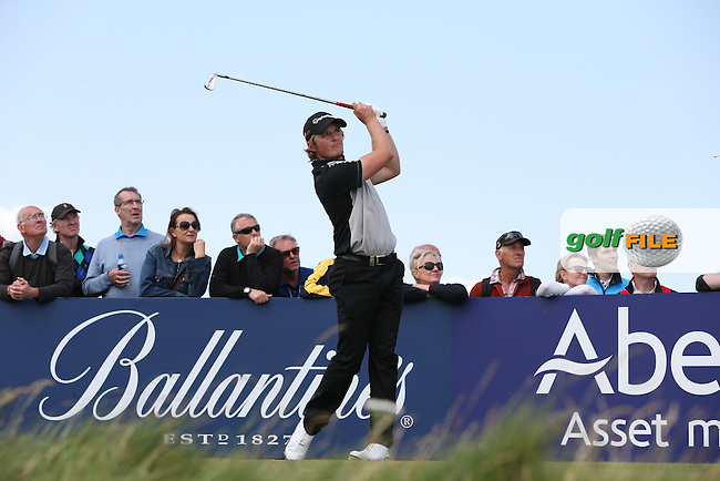 Eddie Pepperell (ENG) carded a 65 during Round Three of the 2015 Aberdeen Asset Management Scottish Open, played at Gullane Golf Club, Gullane, East Lothian, Scotland. /11/07/2015/. Picture: Golffile | David Lloyd<br /> <br /> All photos usage must carry mandatory copyright credit (&copy; Golffile | David Lloyd)