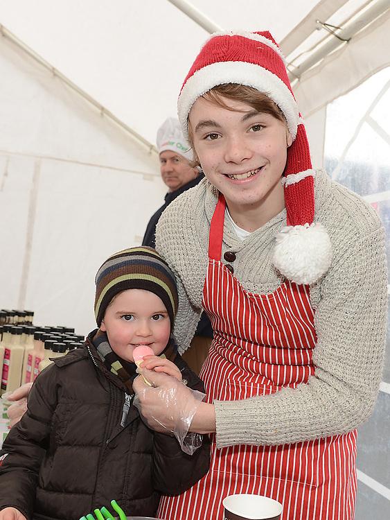 Seán Kane and Thomas Dorian pictured at Dunleer Christmas fair. Photo:Colin Bell/pressphotos.ie