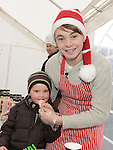 Seán Kane and Thomas Dorian pictured at Dunleer Christmas fair. Photo:Colin Bell/pressphotos.ie