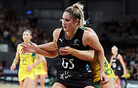 23.09.2018 Silver Ferns Te Paea Selby-Rickit in action during the Silver Ferns v Australia netball test match at the Melbourne Arena in Melbourne, Australia. Mandatory Photo Credit ©Michael Bradley.