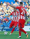 Atletico de Madrid's Yannick Ferreira Carrasco (l) and Jose Maria Gimenez during friendly match. August 11,2017. (ALTERPHOTOS/Acero)