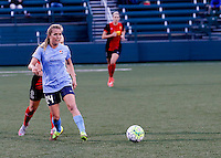 Rochester, NY - May 21, 2016: Sky Blue FC  midfielder Kelly Conheeney (24) in action during a National Women's Soccer League (NWSL) match at Sahlen's Stadium. The Western New York Flash go on to win 5-2.