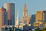 Buildings from three centuries - International Place, Old North Church, and the Custom House, Boston, MA, USA, Old North Church, and the Custom House, Boston, MA, USA